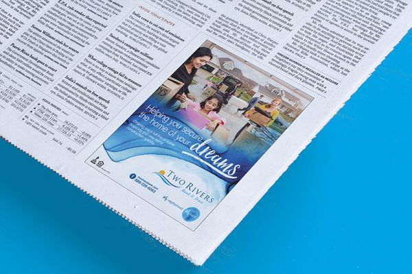 Two Rivers Financial Group Newspaper Design