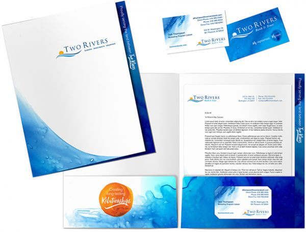 Two Rivers Financial Group collateral design