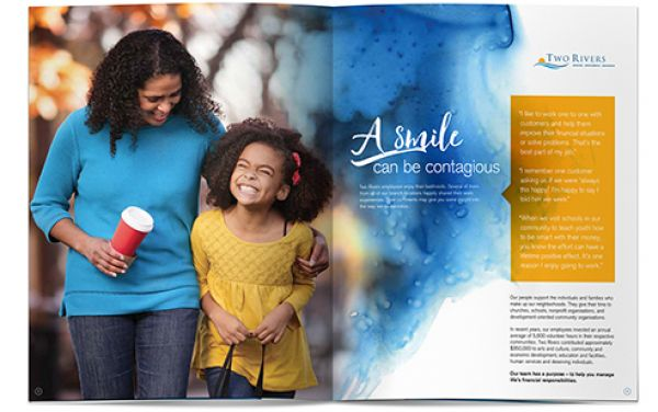Two Rivers Financial Group Customer Brochure Design