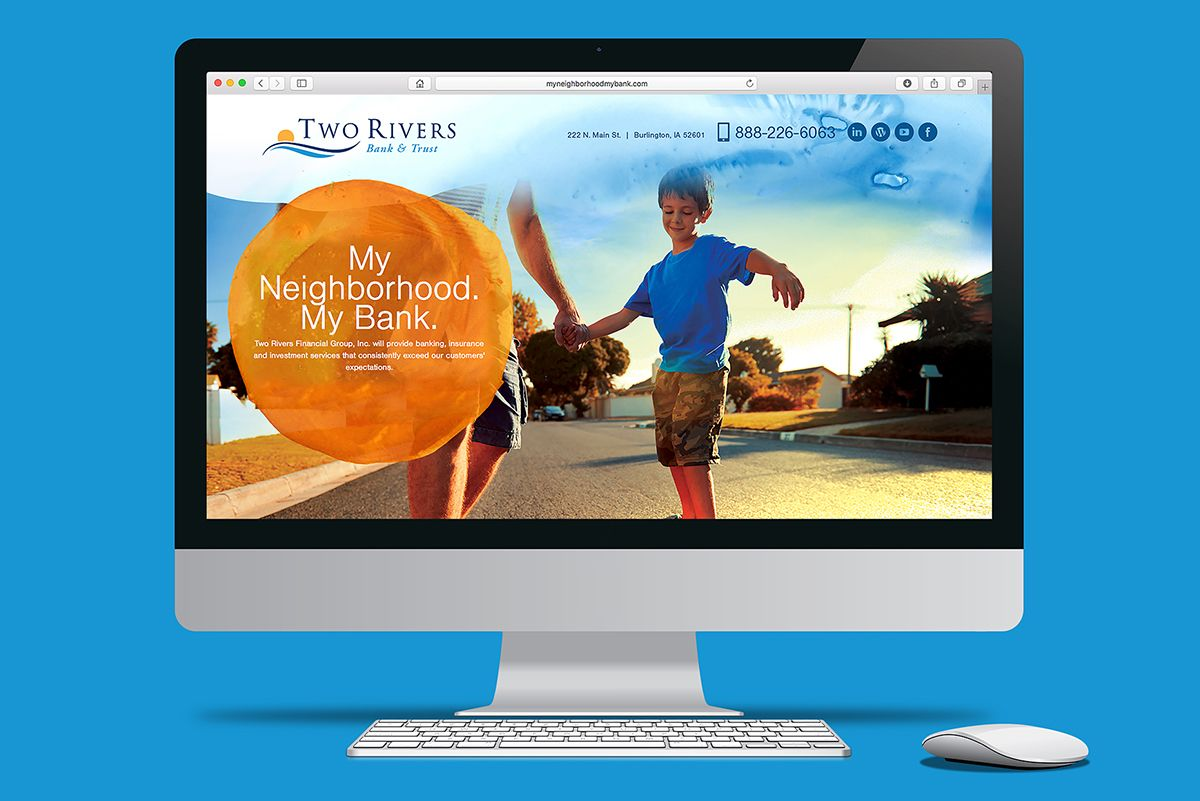 Two Rivers Bank Microsite Design and Development